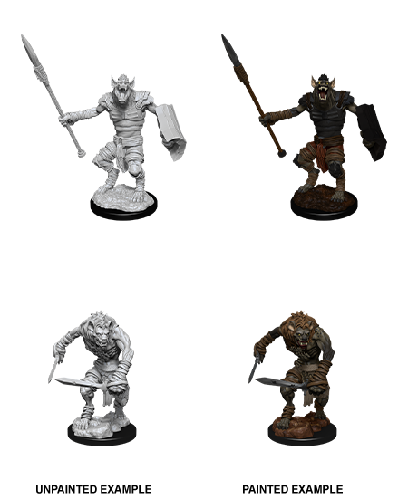 D&D Nolzur's Marvelous Miniatures: Gnoll & Gnoll Flesh Gnawer (90066)