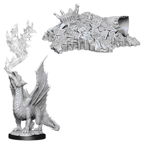 PREORDER - D&D Nolzur's Marvelous Miniatures: Gold Dragon Wyrmling & Small Treasure Pile (90028)