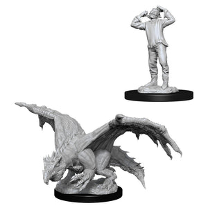 D&D Nolzur's Marvelous Miniatures: Green Dragon Wyrmling & Afflicted Elf (90029)