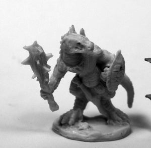 Reaper Bones: Lizardman with Club and Shield (77426)