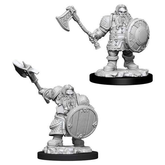 PREORDER - D&D Nolzur's Marvelous Miniatures: Male Dwarf Fighter (90004)