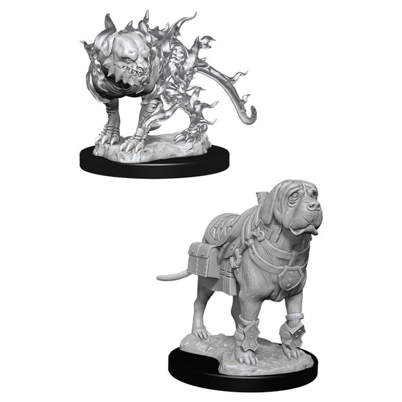 PREORDER - D&D Nolzur's Marvelous Miniatures: Mastiff & Shadow Mastiff (90017)