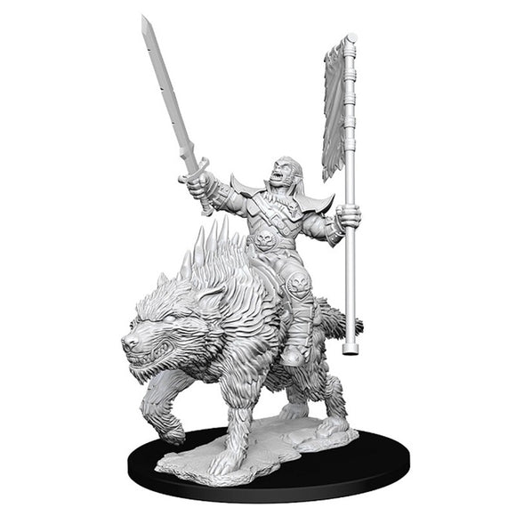 Pathfinder Deep Cuts: Orc on Dire Wolf (73547)