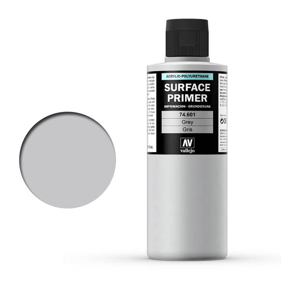 Vallejo Surface Primer: Grey 200ml (74601)
