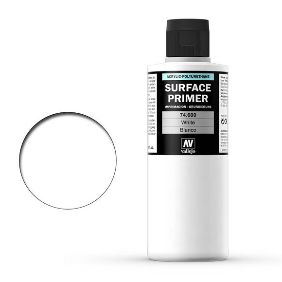 Vallejo Surface Primer: White 200ml (74600)