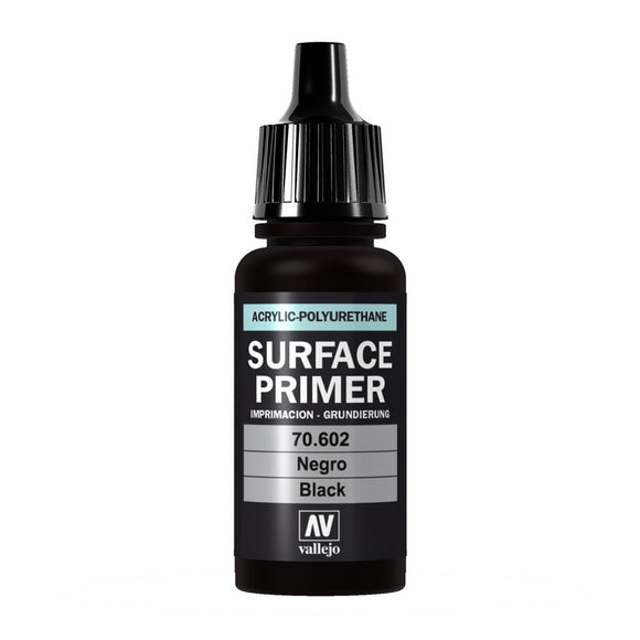 Vallejo Surface Primer: Black 17ml (70602)