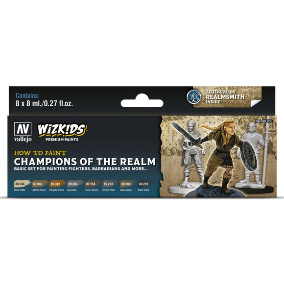 Vallejo WizKids Premium Paints Set: Champions of the Realm (80.250)