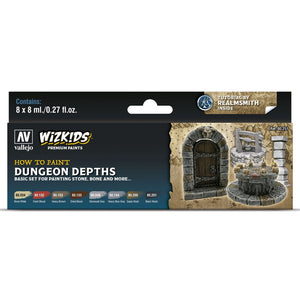 Vallejo WizKids Premium Paints Set: Dungeon Depths (80.251)