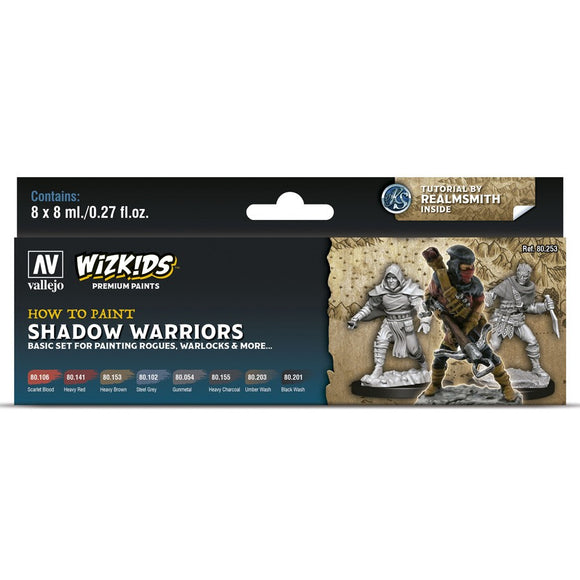 Vallejo WizKids Premium Paints Set: Shadow Warriors (80.253)