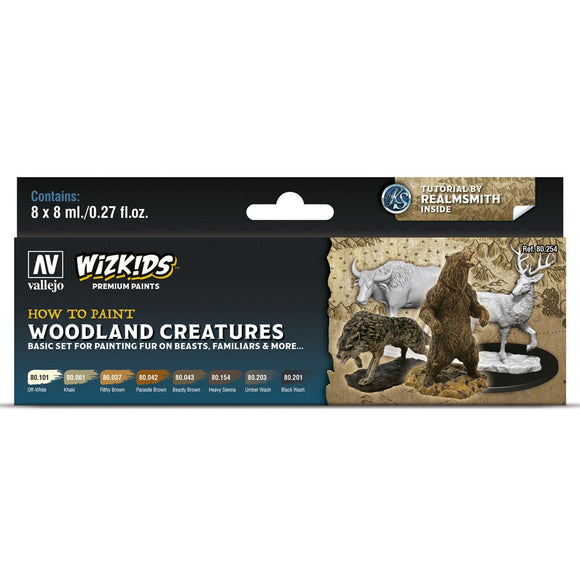 Vallejo WizKids Premium Paints Set: Woodland Creatures (80.254)