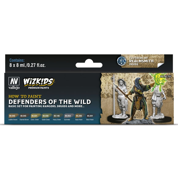 Vallejo WizKids Premium Paints Set: Defenders of the Wild (80.255)