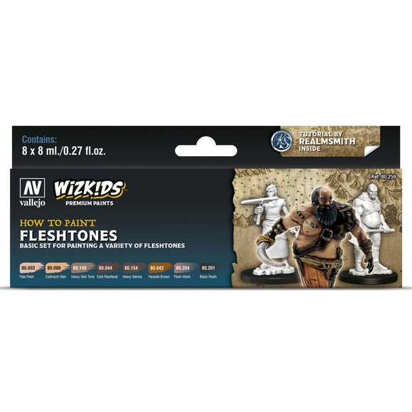 Vallejo WizKids Premium Paints Set: Fleshtones (80.259)