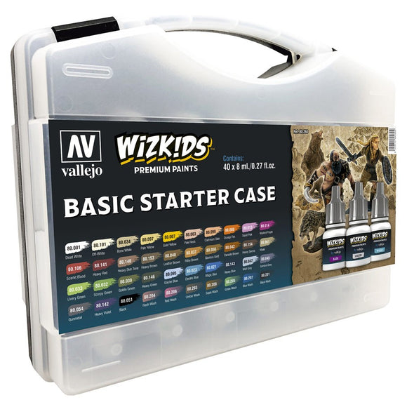 Vallejo WizKids Premium Paints: Basic Starter Case (80.260)