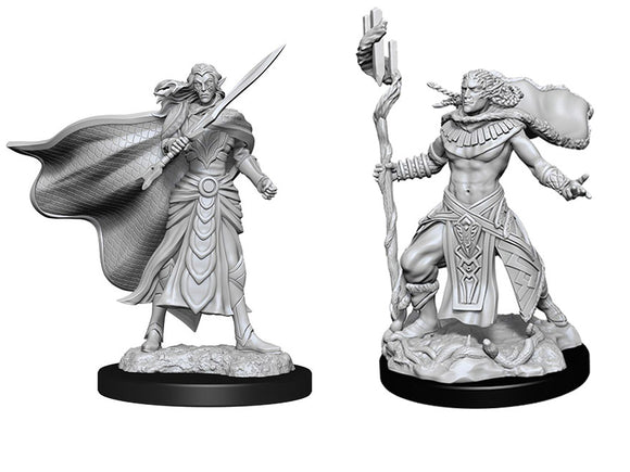 PREORDER - MtG Unpainted Miniatures: Elf Fighter and Elf Cleric (90279)