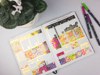 Foil Coloring Planner Sticker Weekly Kit
