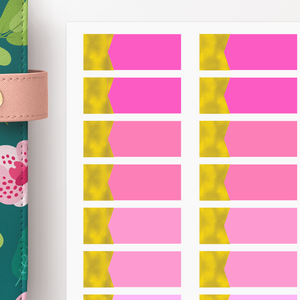 Foiled Appointment Label Functional Planner Stickers