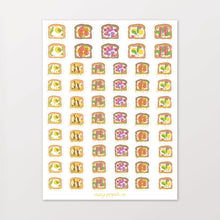 Load image into Gallery viewer, Foil Avocado Toast Breakfast & Brunch Illustrated Planner Stickers