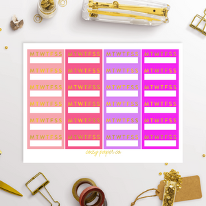 Foil Habit Tracker Functional Sidebar Stickers