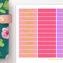Load image into Gallery viewer, Foil Header Functional Planner Stickers