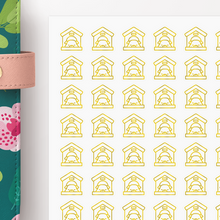 Load image into Gallery viewer, Foil Dog House Icon Planner Stickers