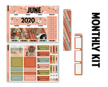 Load image into Gallery viewer, Retro Summer June Monthly Kit - Monthly Spread
