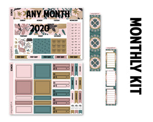 Vintage Forest Monthly Kit - Monthly Spread (Any Month)