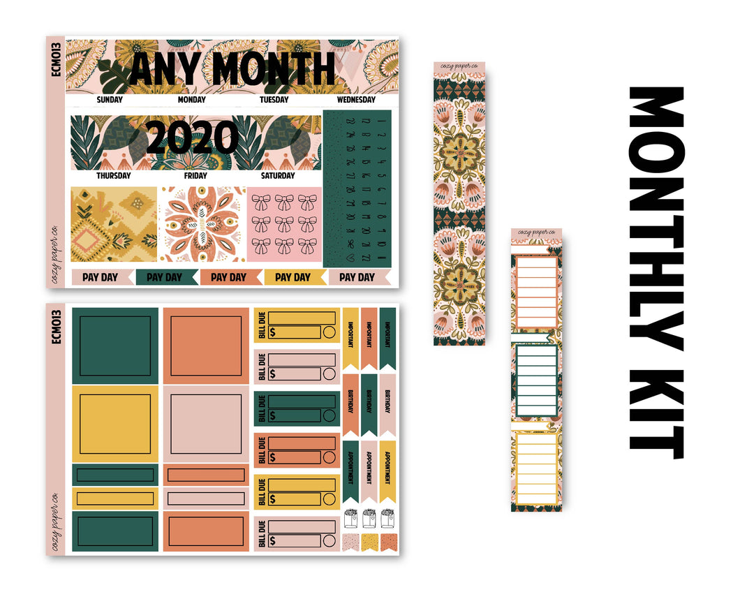 Antique Shop Monthly Kit - Monthly Spread (Any Month)