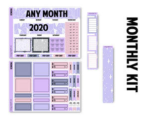 Indigo Nights Monthly Kit - Monthly Spread (Any Month)