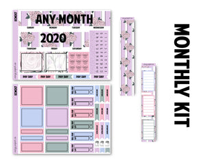 Floral Fiesta Monthly Kit - Monthly Spread (Any Month - 2021)