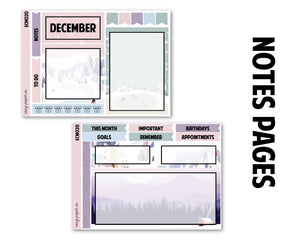 December Winter Monthly Kit - Notes Pages