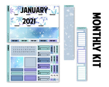 Load image into Gallery viewer, Snowflake January Monthly Kit - Monthly Spread