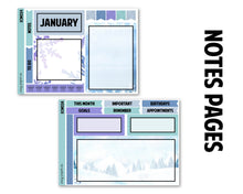 Load image into Gallery viewer, Snowflake January Monthly Kit - Notes Pages