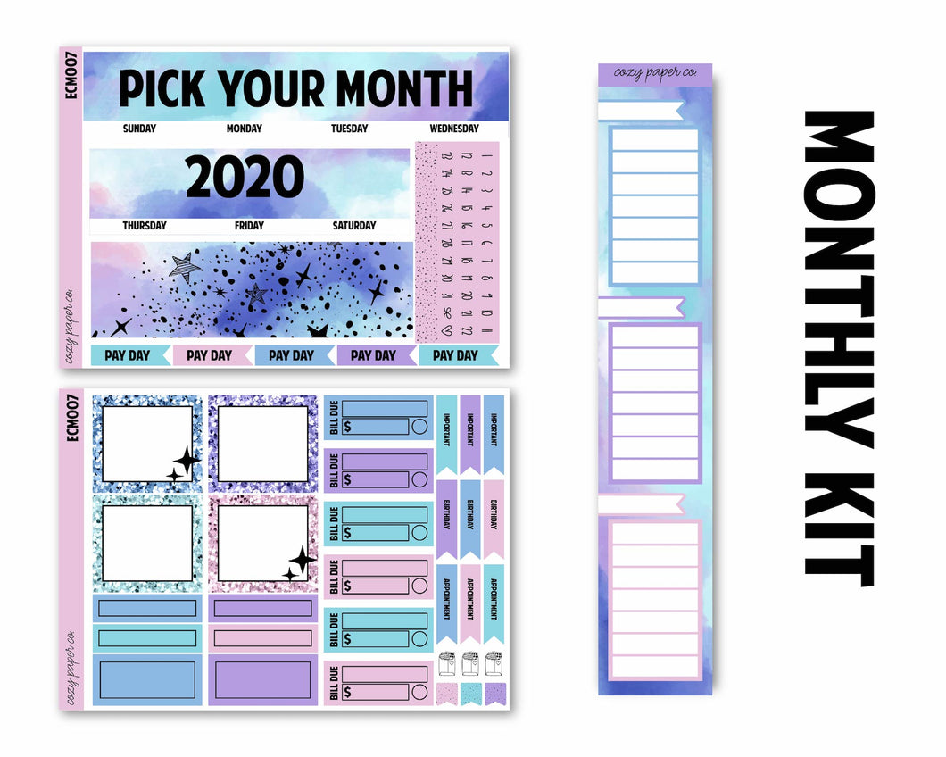 Planetarium Monthly Kit (Any Month - 2021) - Monthly Spread