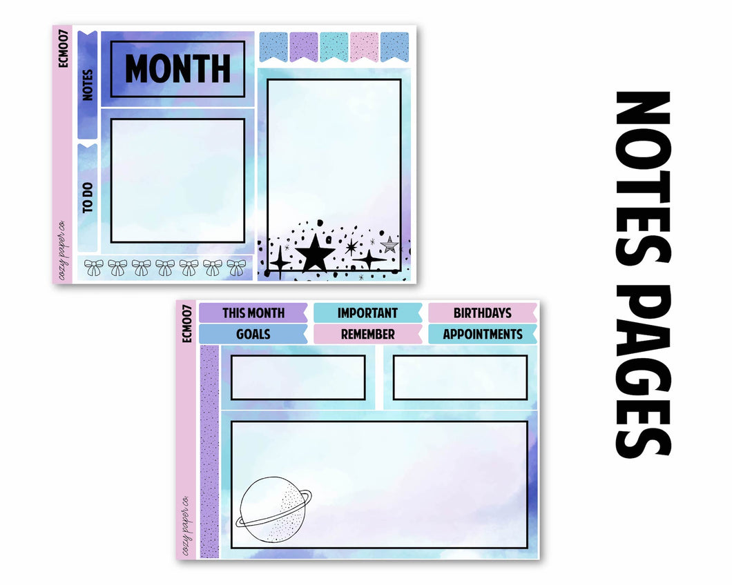 Planetarium Monthly Kit (Any Month) - Notes Pages
