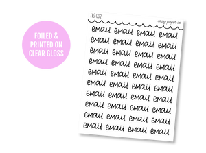 Clear Hand Lettered Email Script