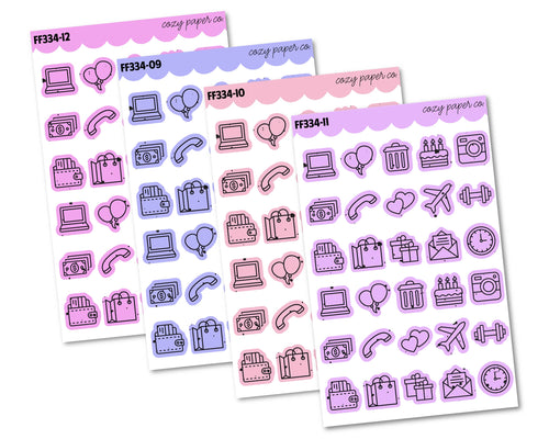 COLOR BUNDLE - Mist Pattern Functional Icons 2.0