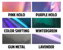 Load image into Gallery viewer, Dual Foil Starry Header Overlays (Silver Holo / Pink)