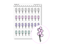 Load image into Gallery viewer, Hand Drawn Foil Sparkle Balloon Icons
