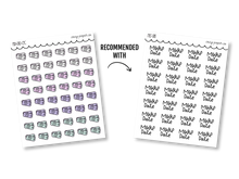 Load image into Gallery viewer, Hand Drawn Foil Sparkle Movie Ticket Icons