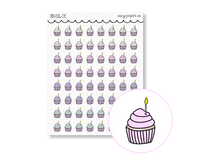 Load image into Gallery viewer, Hand Drawn Foil Sparkle Cupcake Icons