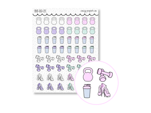 Hand Drawn Fitness Icons Sampler