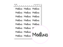Load image into Gallery viewer, Clear Hand Lettered Meeting Script