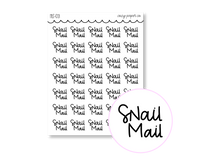 Load image into Gallery viewer, Clear Hand Lettered Snail Mail Script