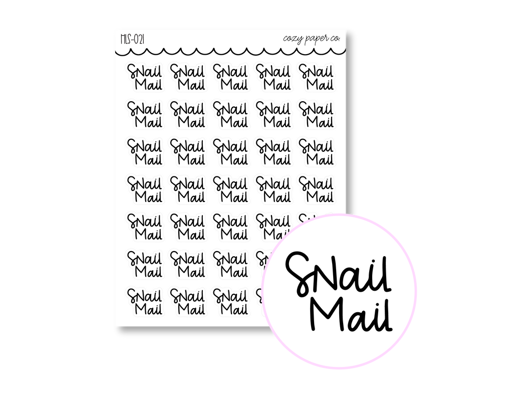 Clear Hand Lettered Snail Mail Script
