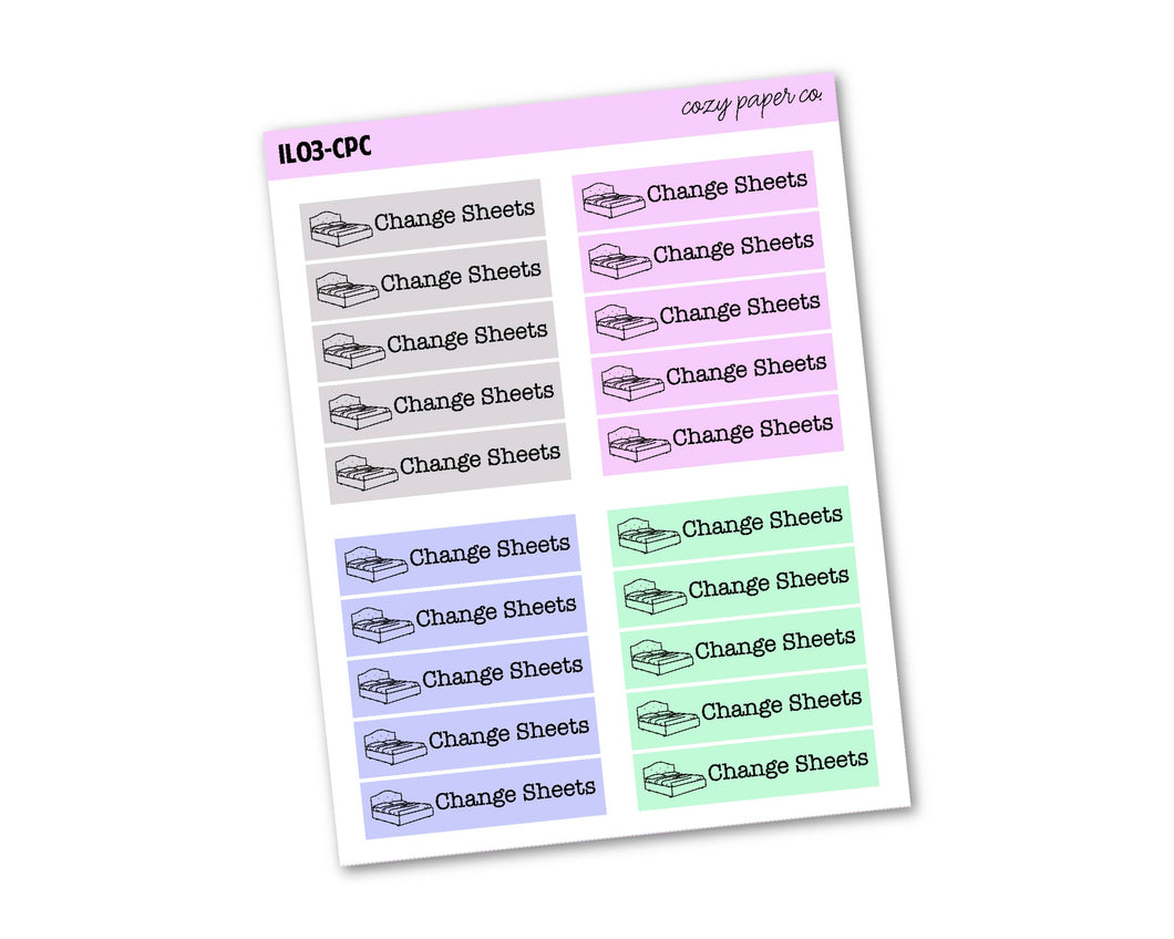 Multicolor Change Sheets Labels