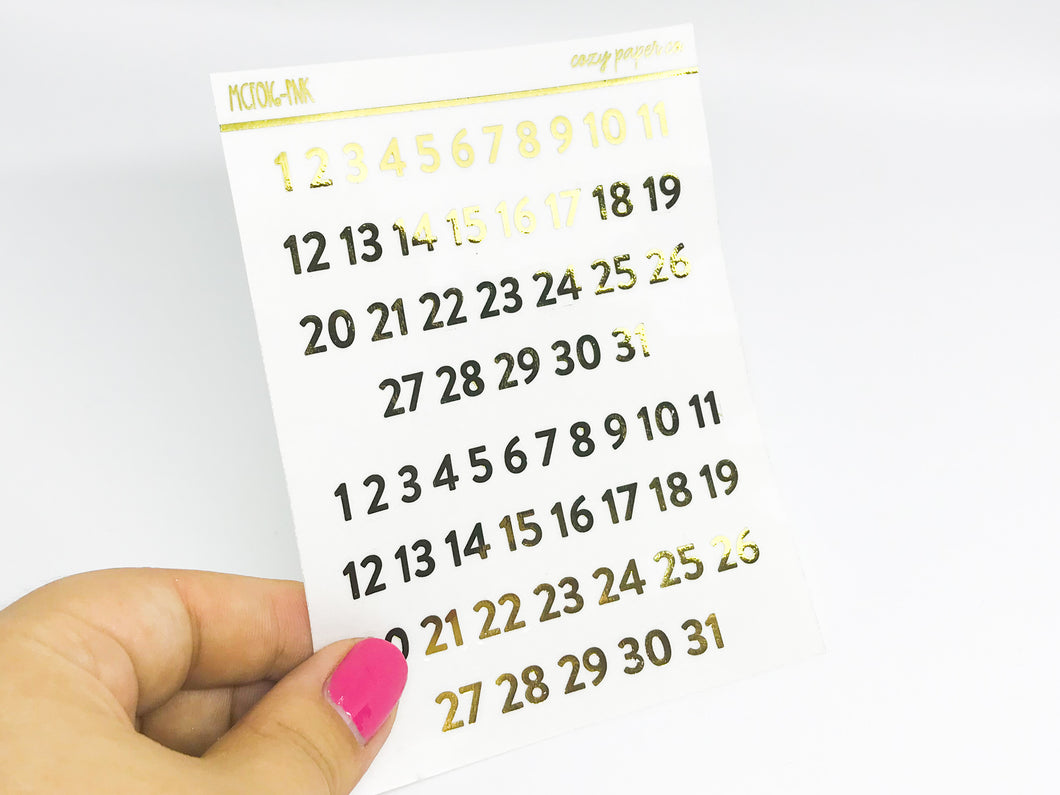 Clear Date Dots