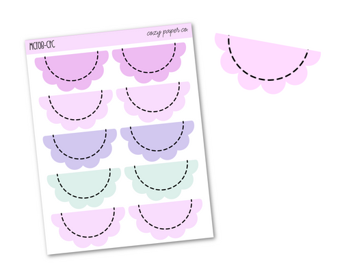 Foil Scalloped Dashed Line Half Boxes