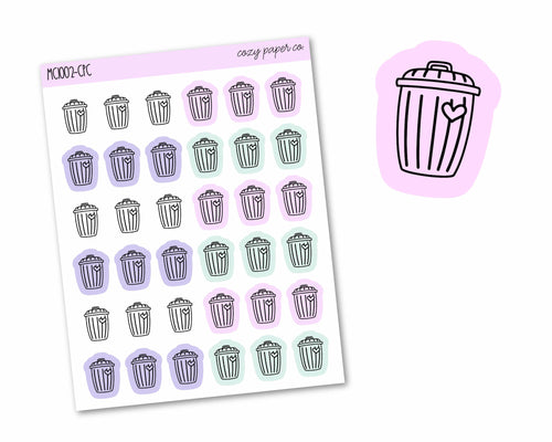 Multicolor Trash Can Icons