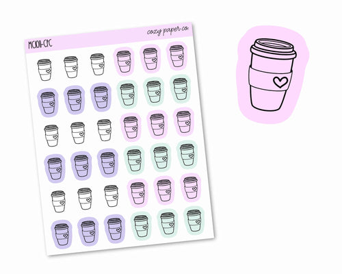 Multicolor Coffee Icons
