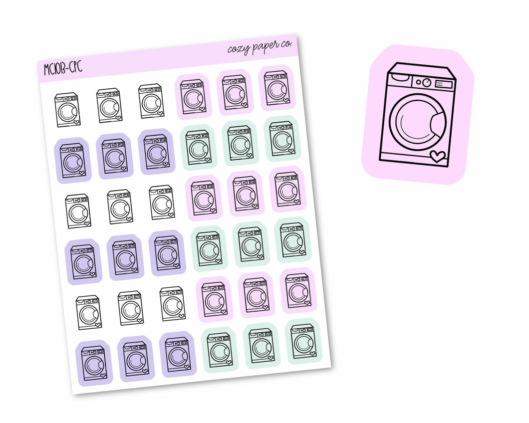 Multicolor Laundry Icons